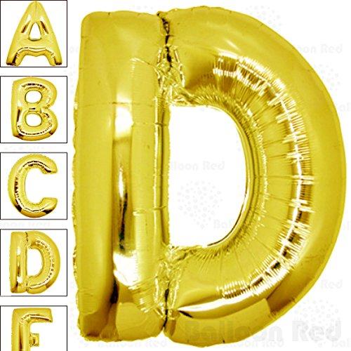 [40 Inch Giant Jumbo Helium Foil Mylar Balloons (Premium Quality), Glossy Gold, Letter D] (Super Ray Costume)