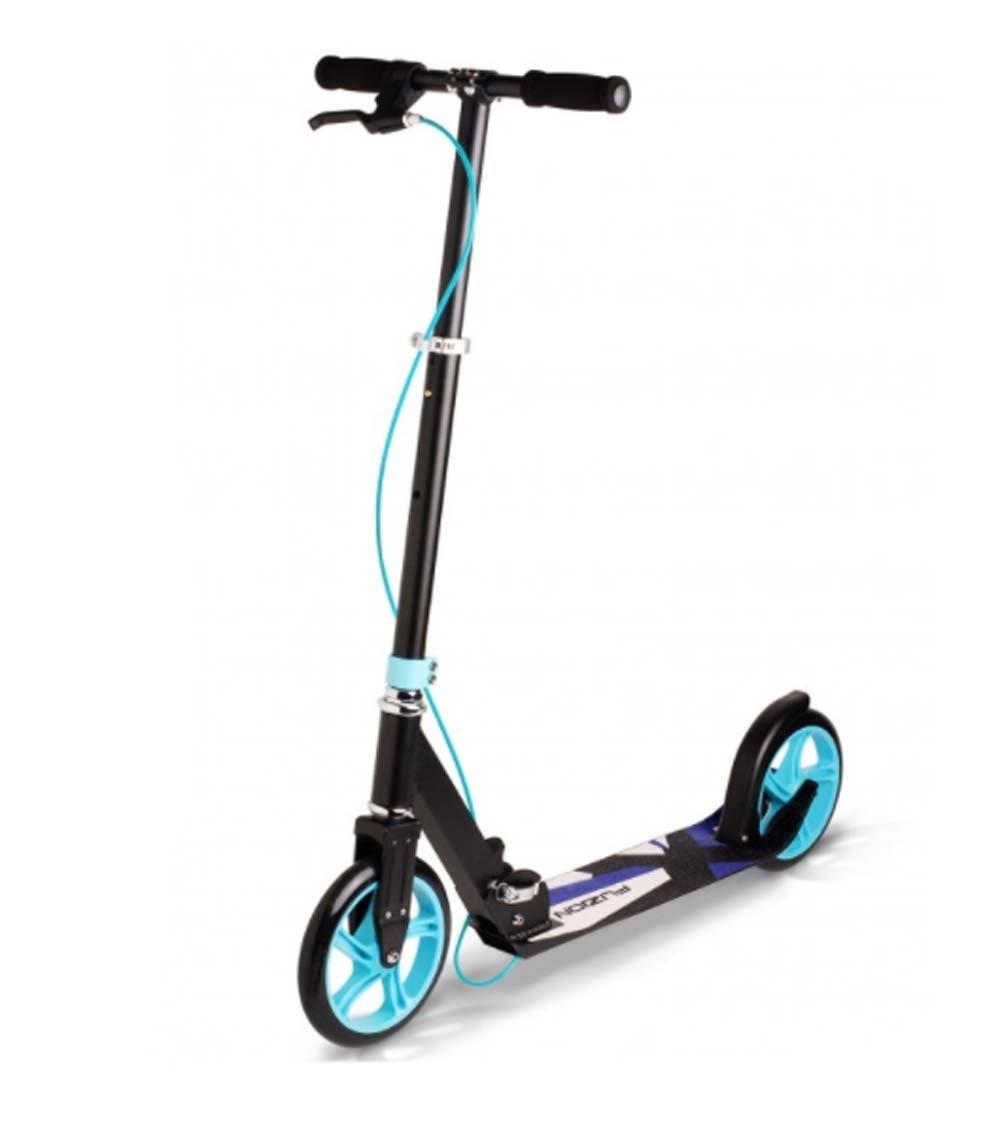 Fuzion Cityglide B200 Adult Kick Scooter w/Hand Brake - 220lb Weight Limit - Folds Down - Adjustable Handle Bars - Smooth & Fast Ride (Midnight Blue) Nextsport F0214