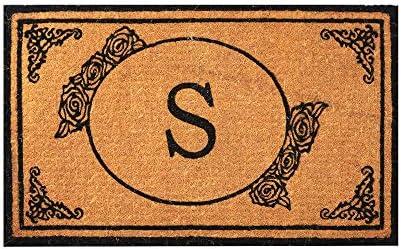 Customized Monogram Extra Thick Doormat Welcome Mat Entryway Door Mat For Patio 18 x 30, Monogram M Outdoor Rugs Durable Coir Outdoor Doormat Coir Doormat Envelor Home and Garden Handwoven