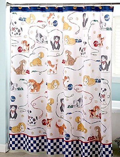 Cute Puppy Dog Bathroom In A Bag Set Blue Kids Bathroom Decorating Ideas by LTD