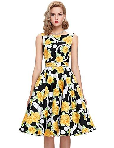 4 Para 11 Mujer Estilo Vestido Yafex Floral w8F4xI7Iq