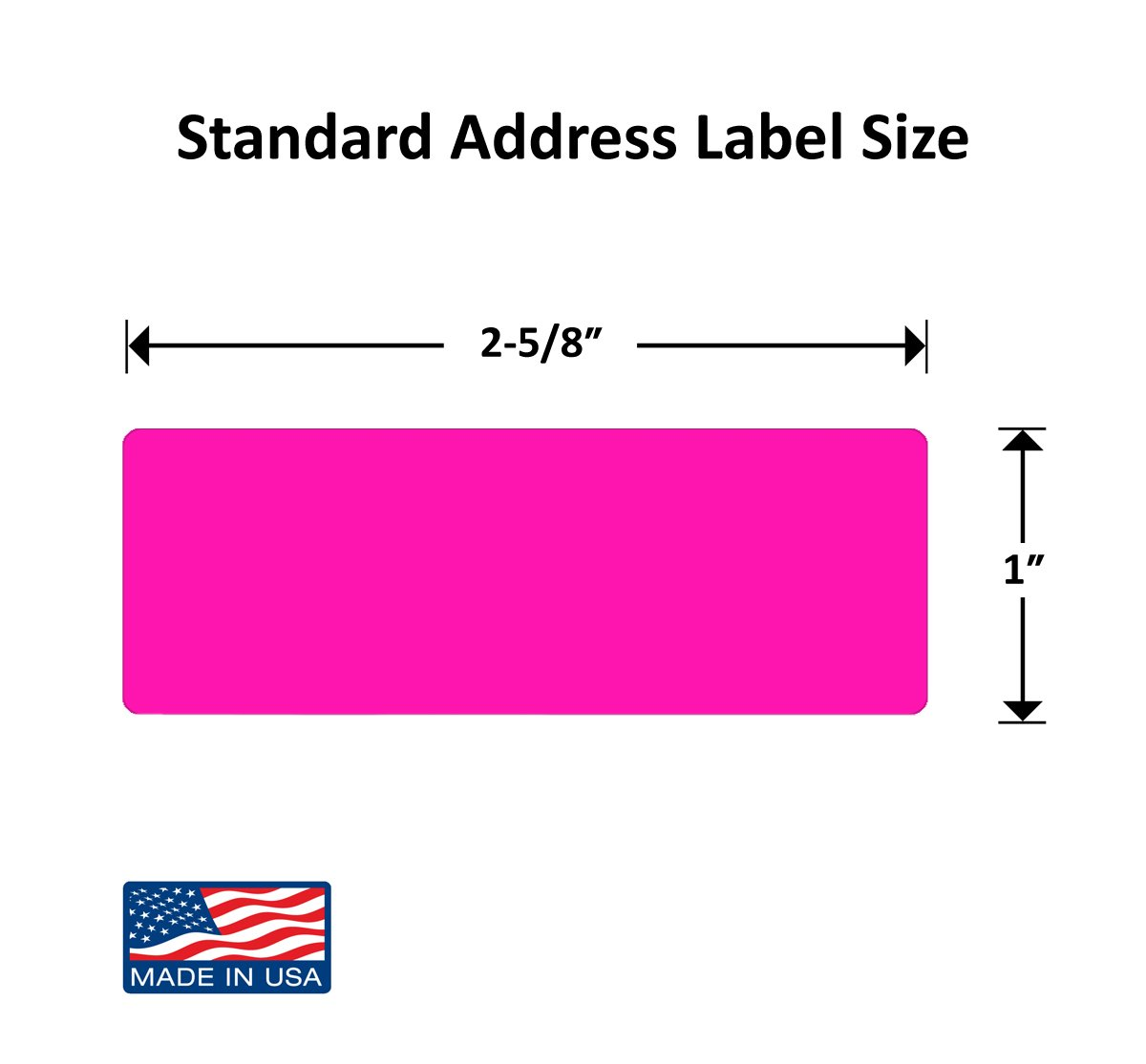 Amazon.com : Pack of 300, 1 x 2-5/8 Inch Multi-Color Mailing Address ...