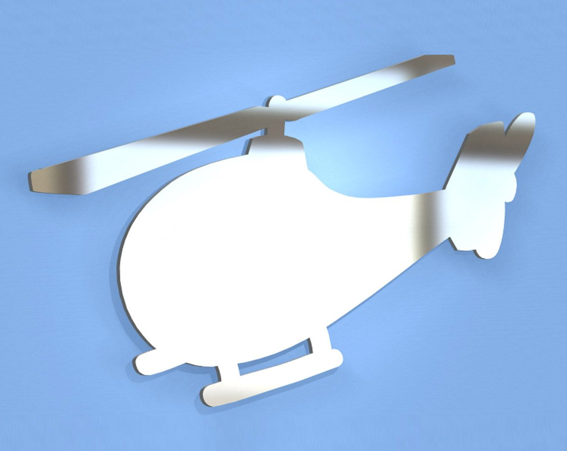 Helicopter Mirror - Available in various sizes, including sets for crafting kits - 35cm x 23cm