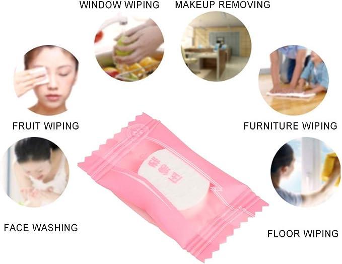 Mini Tela no Tejida port/átil desechable Toallas comprimidas Toallas de Tela para Limpieza Facial Mini Toallas comprimidas para Viajes o toallitas para el hogar Viajes Liyeehao Toalla comprimida