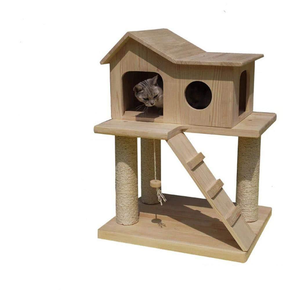 Hexiansheng Cat Climb Trees Solid Wood Small cat nest cat Platform coarse sisal Pillar 50  60  80cm