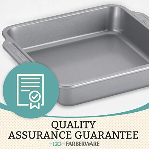 Farberware Nonstick Steel Bakeware Set with Cooling Rack, Baking Pan and Cookie Sheet Set with Nonstick Bread Pan and…