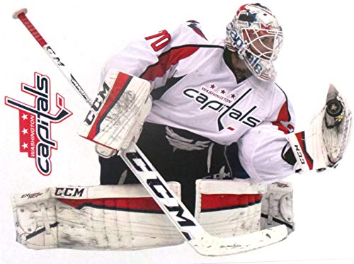 "FATHEAD Braden Holtby Mini Graphic + Washington Capitals Logo Official NHL Vinyl Wall Graphics 7"" INCH"