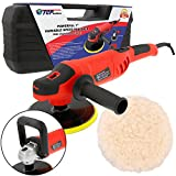 TCP Global 7'' Variable Speed Polisher with Digital RPM Display; Professional High Performance Polisher with a Powerful 10 Amp, 1200 Watt Motor
