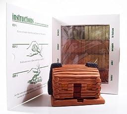 Log Cabin Incense Burner Value Pack with Seven Scent Sampler and Bonus Pinon Incense