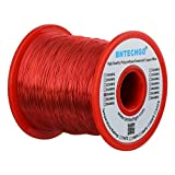 BNTECHGO 26 AWG Magnet Wire - Enameled Copper Wire - Enameled Magnet Winding Wire - 16 oz - 0.0157'' Diameter 1 Spool Coil Red Temperature Rating 155 degrees C Widely Used for Transformers Inductors