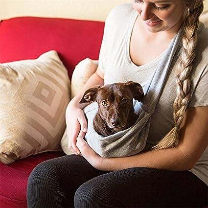 Single-Shoulder Sac de Coton pour Animaux Deux c/ôt/és Disponibles Sac Bleu Bleu l/éger Sac Portable pour Animal Domestique