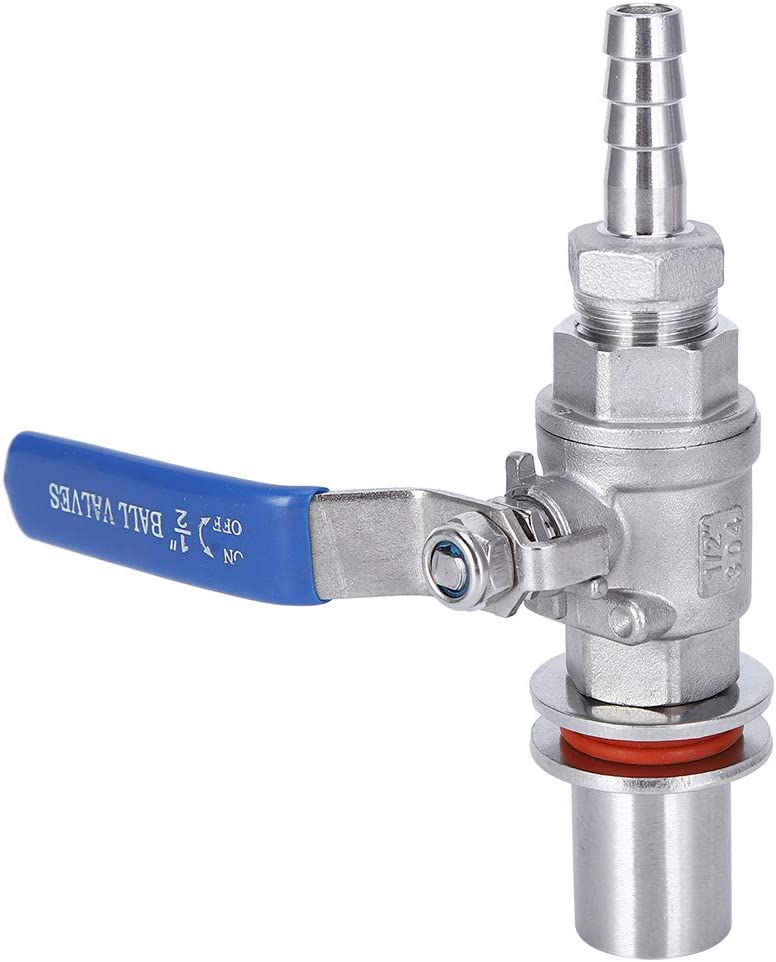 Valve,Delaman 304 Stainless Steel Female Thread 1/2in Beer Kettle Ball Valve Home Brewing Accessory Beer Brewing Tool