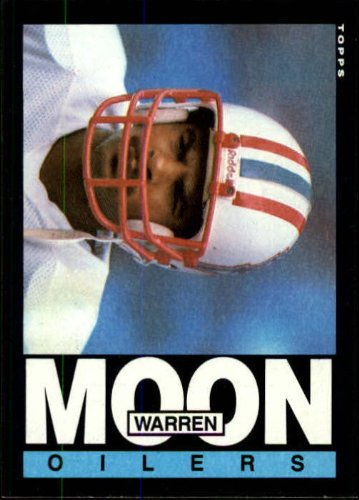 1985 Topps Football Rookie Card #251 Warren Moon Near (Warren Moon Football)