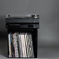 Estante para vinilos | Acero 4 mm | Corte con láser | para 75 LPs ...