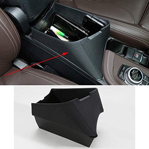 0054046448685 YIWANG Car Center Armrest Storage Box Container Tray for BMW X1 F48 2016-2019, for BMW X2 F47 2018 2019 Left Hand Drive (Black)