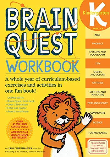 Brain Quest Workbook: Kindergarten (A Color Of His Own Lesson Plan)