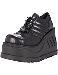 Summitfashions 4-1/2 Inch Trendy Gothic Shoes Punk Shoes Black Platform Shoes Lace Up