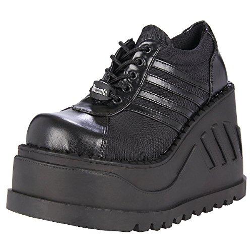 Gothic Punk Shoes - 4-1/2 Inch Trendy Gothic Shoes Punk Shoes Black Platform Shoes Lace Up Size: 11