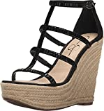 Jessica Simpson Women's Adelinn Espadrille Wedge Sandal, Black, 11 M US