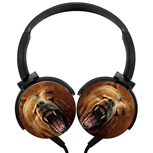 Beer Grizzly Growl Stereo Overear Heavy Bass Portable Wire Microphone mp3 Tablet PC Video Game Phone