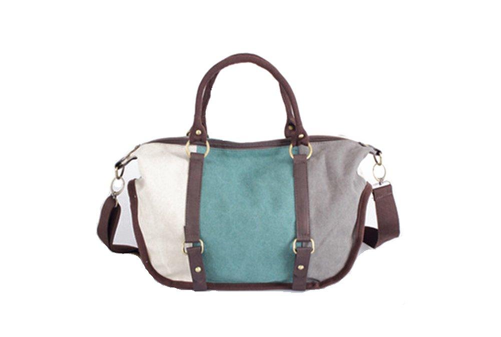 MOLLYGAN Women's Canvas Color Matching Hobo Handbag Shoulder Bag Totes Sky Blue