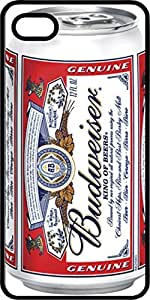Budweiser Beer Can Black Plastic Case for Apple iPhone 4 or iPhone 4s