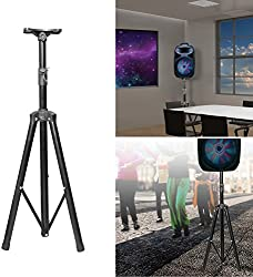 GPCT [Universal] Speaker [Corrosion Resistant] Adjustable Tripod Stand. [Heavy Duty] Holds Up To 60KG/132LBS. Easy Storage [Non Slip] 4 Different Heights DJ PA Speaker Stand. [BLACK] by GPCT
