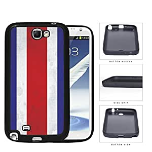 Costa Rica Flag Red White and Blue Grunge Hard Rubber TPU Phone Case Cover Samsung Galaxy Note 2 N7100