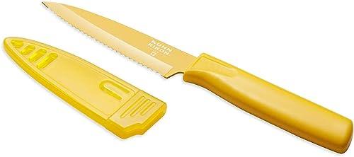 Kuhn Rikon Colori Serrated Paring Knife