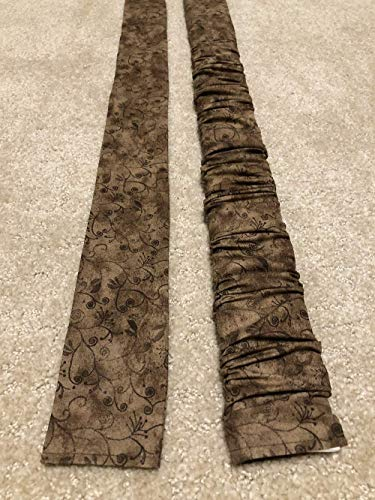 Trendy LONG Flourish on Brown Blender print Lamp Cord Cover, Fabric cover,Electrical Cord Cover, hide a cord- IN STOCK Active, Ready to Ship