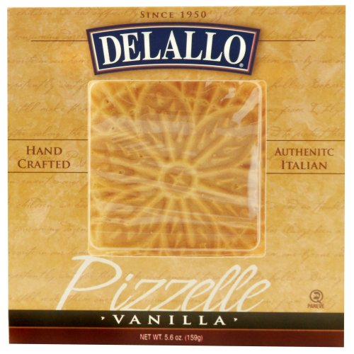 DeLallo Vanilla Pizzelle, 5.6-Ounce Units (Pack of 6) by DeLallo