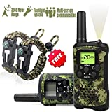 Aikmi Kid's Walkie Talkies Set - Walkie Talkies for Kids 2 Way Radio Toy Birthday Gift for 4-8 Year Old Boys and Girls Fit Games, Adventure and Camping. Strap and Paracord Bracelet Included. (Camo)
