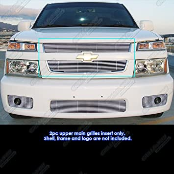 APS Compatible with 2004-2010 Chevy Colorado Xtreme Black Billet Grille Grill Insert C86799H