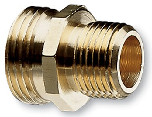 (Nelson Industrial Brass Pipe and Hose Fitting for Female 1/2-Inch NPT to Female Hose, Double Male 50570)