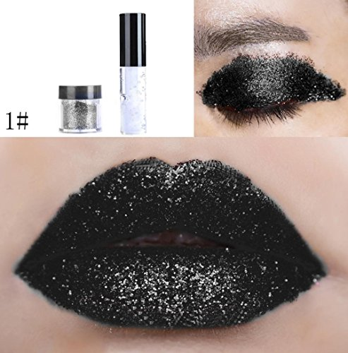 Oksale 20 Colors Shimmer Glitter Lip Gloss Powder Palette Glitter Lipstick Cosmetic Eye shadow