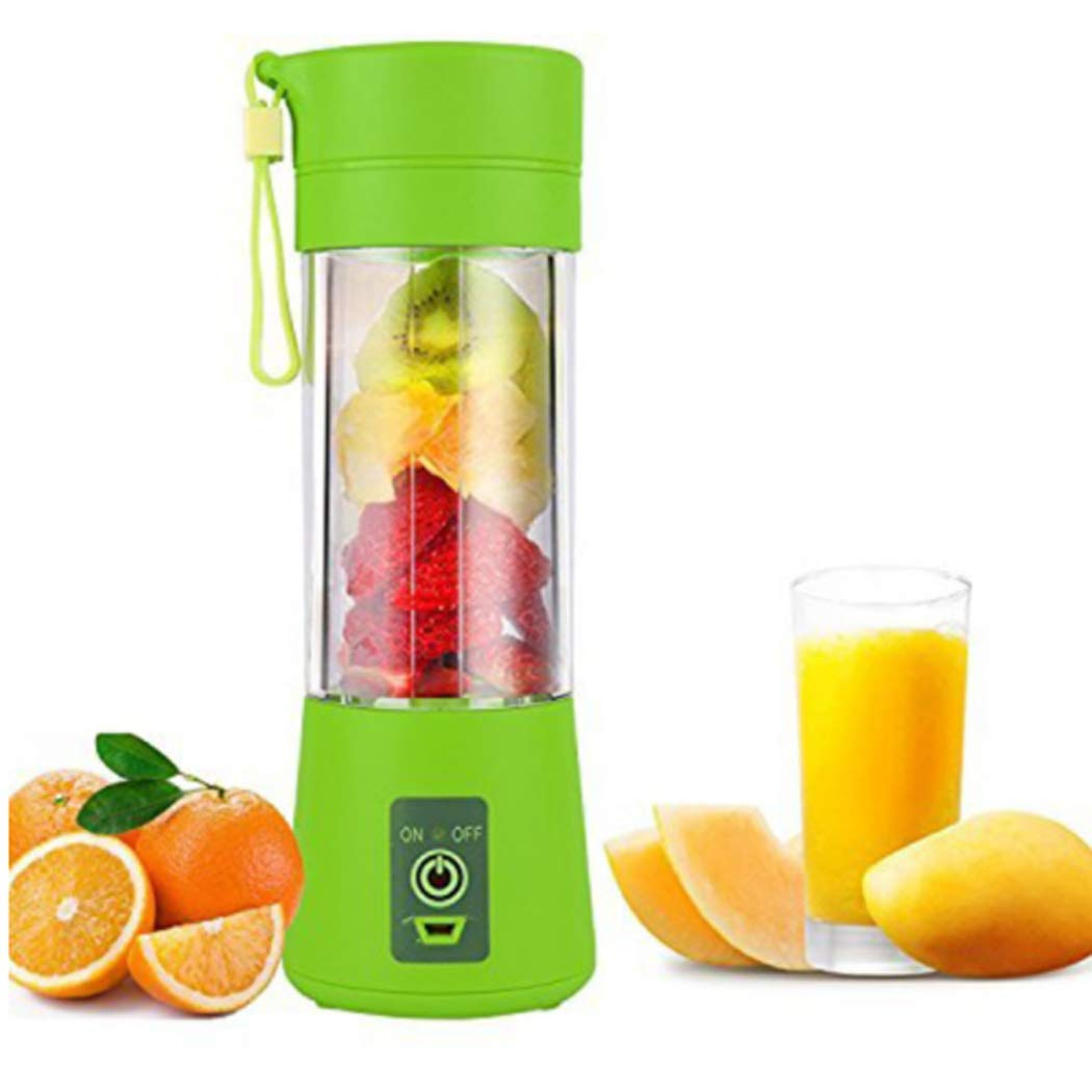Zooarts Juicer Blender, Household Fruit Mixer - Six Blades in 3D, 380ml Fruit Mixing Machine with USB Charger Cable for Superb Mixing, USB Juicer Cup