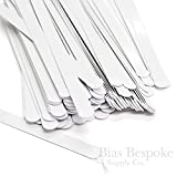 100 Pieces of 1/2'' White Spring Steel Corset Boning, 9.5'' Long