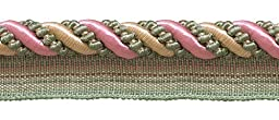 9 Yard Value Pack Large Dusty Rose, Pastel Green, Lt Gold 7/16\