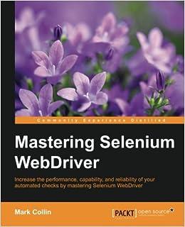 Book Mastering Selenium WebDriver