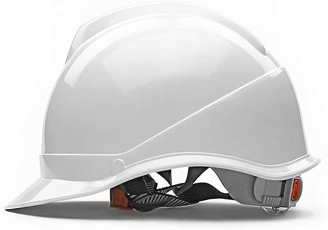 ZBM-ZBM Casco De Seguridad, Tipo V Cascos De Ingeniería ABS De Alta Resistencia Sitio Casco Transpirable Antiácaros Casco de Seguridad Industrial (Color : White): Amazon.es: Hogar