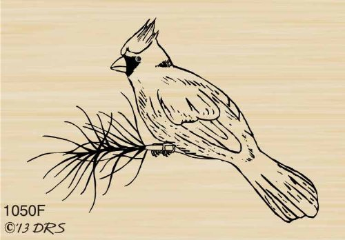 Small Cardinal Rubber Stamp