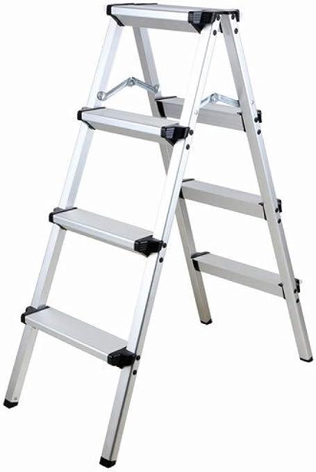 Taburete Plegable para el Hogar, Escalera de Aluminio Grueso, Taburete de Pesca de Doble Uso: Amazon.es: Deportes y aire libre