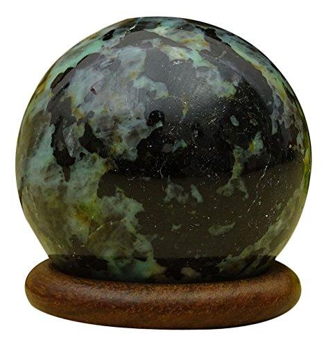 HARMONIZE Decorative Reiki Healing Stone Chrysocolla Stone Sphere Ball Balancing Art by HARMONIZE