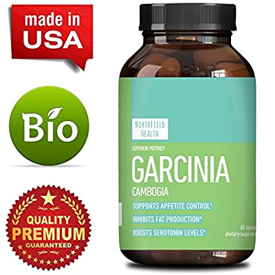 Garcinia Cambogia Pure Extract - Burn Belly Fat In Men and Women - Natural Ingredients Weight Loss Pills - Appetite Suppressant + Energy Boost - Garcinia 95 HCA Supplement By North Field Health