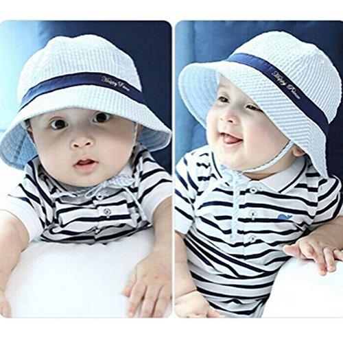 a59fea1f594 Oyedens Fashion Baby Girl Boys Bucket Hats Fishing Cap Children Cotton Sun  Hat (Blue )  Amazon.co.uk  Baby
