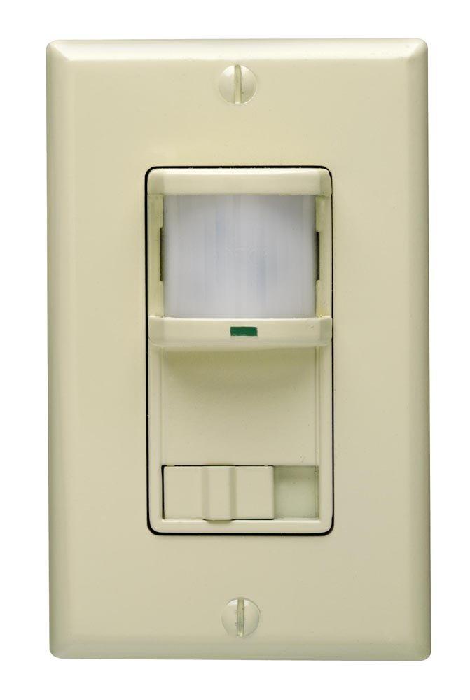 Leviton PR180-1LI Decora 500W Incandescent, 400VA, Passive Infrared ...