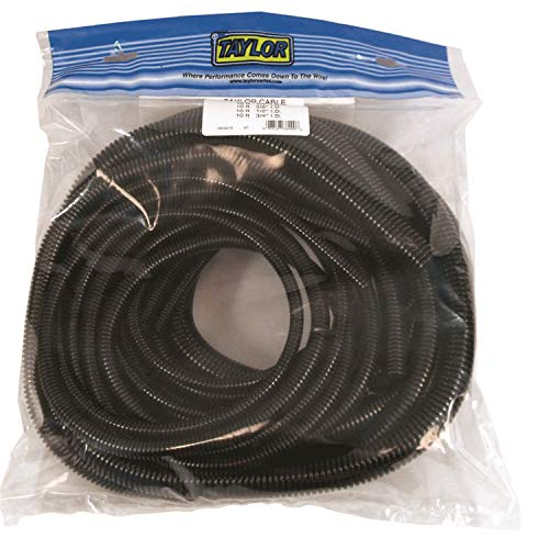(Taylor Cable 38000 Black Pre-Packaged Convoluted Tubing Assortment )