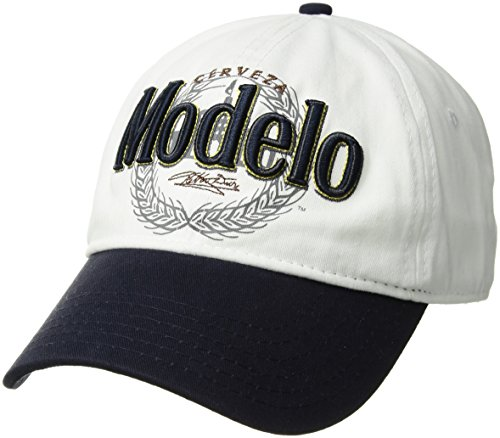 Corona Beer Baseball Cap - Corona Men's Cerveza Modelo Baseball Cap, Embroidered Emblem, Adjustable, White, one Size