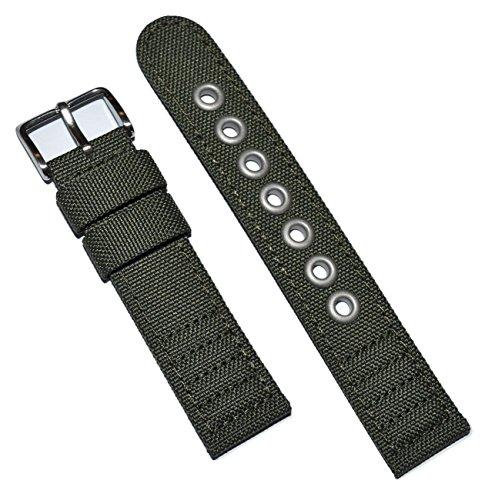 Original Citizen 20mm Men's Strap Green Canvas Watch Band For Model AT0200-05E