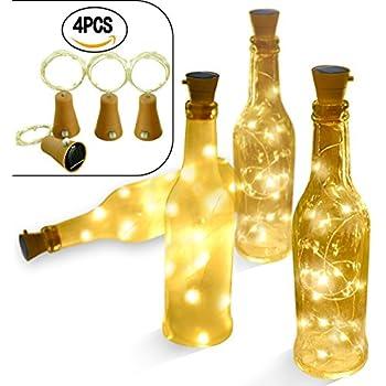 Amazon Com 5pcs Plastic Led Solar Bottle Lights Wine